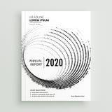 Calibre abstrait de conception de brochure d'affaires de points de circulaire illustration libre de droits