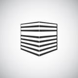 Calibre abstrait de conception de logo de silhouette de bâtiment d'architecture Icône de thème d'entreprise immobilière de gratte