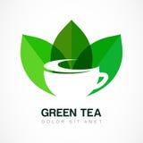 Calibre abstrait de conception de logo Symbole de thé vert, de fines herbes naturel illustration de vecteur