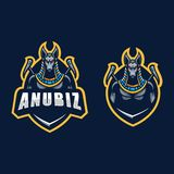 Calibre abstrait de conception de vecteur d'illustration de concept d'Anubis illustration de vecteur