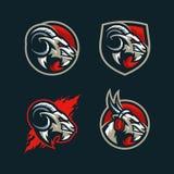 Calibre abstrait de conception de vecteur d'illustration de concept de chèvre illustration stock