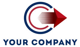 Calibre abstrait de logo Photo libre de droits