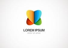 Calibre abstrait de logo de cercle d'infini Graphisme de vecteur Photos stock
