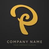 Calibre abstrait de logo de la lettre P Image stock