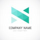 Calibre abstrait de logo de triangle Photos libres de droits