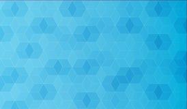 Calibre abstrait de polygone, couleur bleue avec le gradient, graphique Photos libres de droits