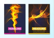 Calibre abstrait moderne de brochure, de rapport ou de conception d'insecte Images stock