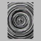 Calibre abstrait psychédélique de fond d'insecte des lignes circulaires concentriques illustration stock