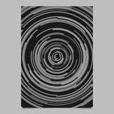 Calibre abstrait rond gris de fond de brochure des rayures circulaires concentriques illustration de vecteur