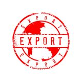 Calibre affligé par signe de conception graphique de signe de timbre de cercle d'exportation illustration libre de droits
