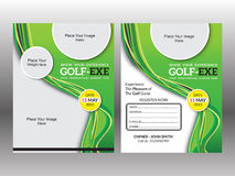 Calibre artistique abstrait d'insecte de golf illustration stock