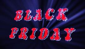 Calibre au néon de conception d'inscription de vente de Black Friday Bannière noire de vendredi Illustration de vecteur Illustration Stock