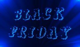 Calibre au néon de conception d'inscription de vente de Black Friday Bannière noire de vendredi Illustration de vecteur Illustration Libre de Droits
