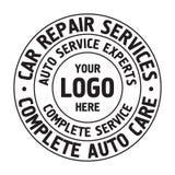 Calibre automatique d'insigne de services des réparations Label de service de voiture, emblème illustration stock