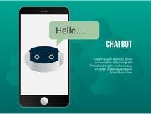 Calibre automatisé de conception de vecteur d'illustration de concept de chatbot illustration libre de droits