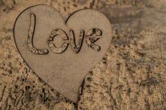 Calibre avec le coeur en bois Photo libre de droits