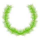 Calibre avec une branche d'une plante verte Image stock