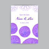 Calibre A4 avec Violet Lotus Photos stock