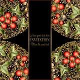 Calibre baroque d'invitation de mariage de vintage Image libre de droits
