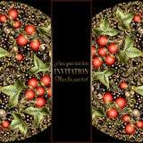 Calibre baroque d'invitation de mariage de vintage Image stock