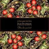 Calibre baroque d'invitation de mariage de vintage illustration de vecteur