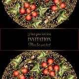 Calibre baroque d'invitation de mariage de vintage illustration libre de droits