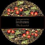 Calibre baroque d'invitation de mariage de vintage illustration stock
