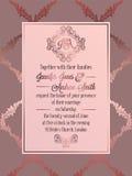 Calibre baroque de carte d'invitation de mariage de style de vintage Image libre de droits