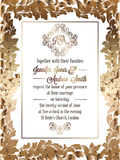 Calibre baroque de carte d'invitation de mariage de style de vintage illustration libre de droits