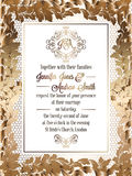 Calibre baroque de carte d'invitation de mariage de style de vintage Photos stock