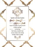 Calibre baroque de carte d'invitation de mariage de style de vintage Photos libres de droits