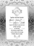 Calibre baroque de carte d'invitation de mariage de style de vintage Photo stock
