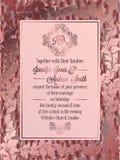 Calibre baroque de carte d'invitation de mariage de style de vintage Photographie stock libre de droits