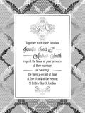 Calibre baroque de carte d'invitation de mariage de style de vintage illustration stock