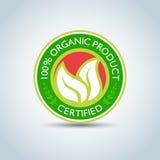calibre 100%, bio label de logo d'Eco de ` de produit biologique de ` avec la rétro conception de vintage Format de vecteur Images libres de droits
