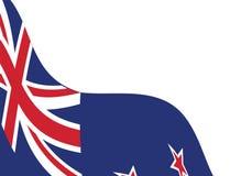 Calibre blanc de fond avec onduler le drapeau du Nouvelle-Zélande illustration de vecteur