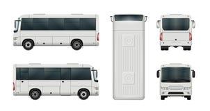 Calibre blanc de minibus Photo stock