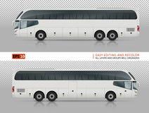 Calibre blanc de vecteur d'autobus Images stock