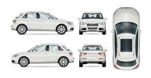 Calibre blanc de vecteur de SUV Image stock