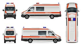 Calibre blanc de voiture d'ambulance Photo stock