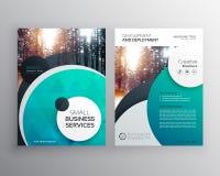 calibre bleu créatif de conception de brochure d'insecte d'affaires avec le circl illustration libre de droits