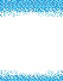 Calibre bleu d'insecte de frontière de pixel Photographie stock libre de droits