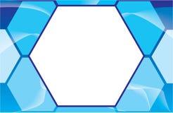 Calibre bleu de brochure de carte postale Photos libres de droits