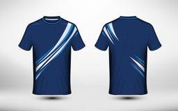 Calibre bleu et blanc de conception de T-shirt d'e-sport de disposition illustration de vecteur