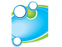 Calibre bleu moderne de brochure de fond d'en-tête de lettre Image libre de droits