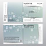 Calibre carré de brochure avec la structure moléculaire Fond abstrait géométrique Médecine, la science, technologie Vecteur Image libre de droits