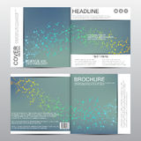 Calibre carré de brochure Fond abstrait de vecteur Concept médical et chimique Image stock