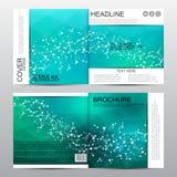 Calibre carré de brochure Fond abstrait de vecteur Concept médical et chimique Photographie stock
