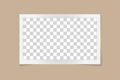 Calibre carré de cadre avec des ombres d'isolement sur le fond beige illustration stock