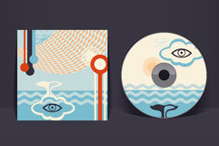Calibre CD de conception de couverture Image libre de droits